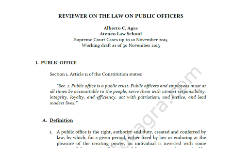 Public Officers Reviewer 11.30.15