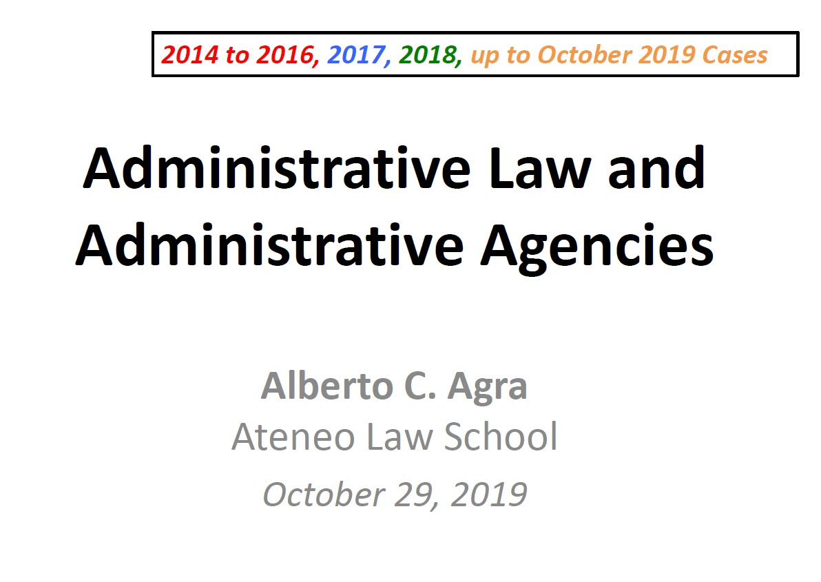 Agra Administrative Law Reviewer 10.29.2019 TN