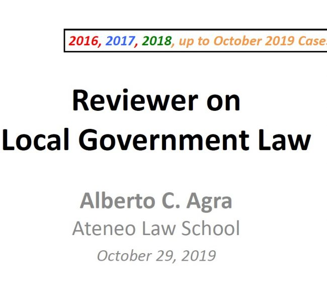Agra Local Government Reviewer 10.29.2019 TN