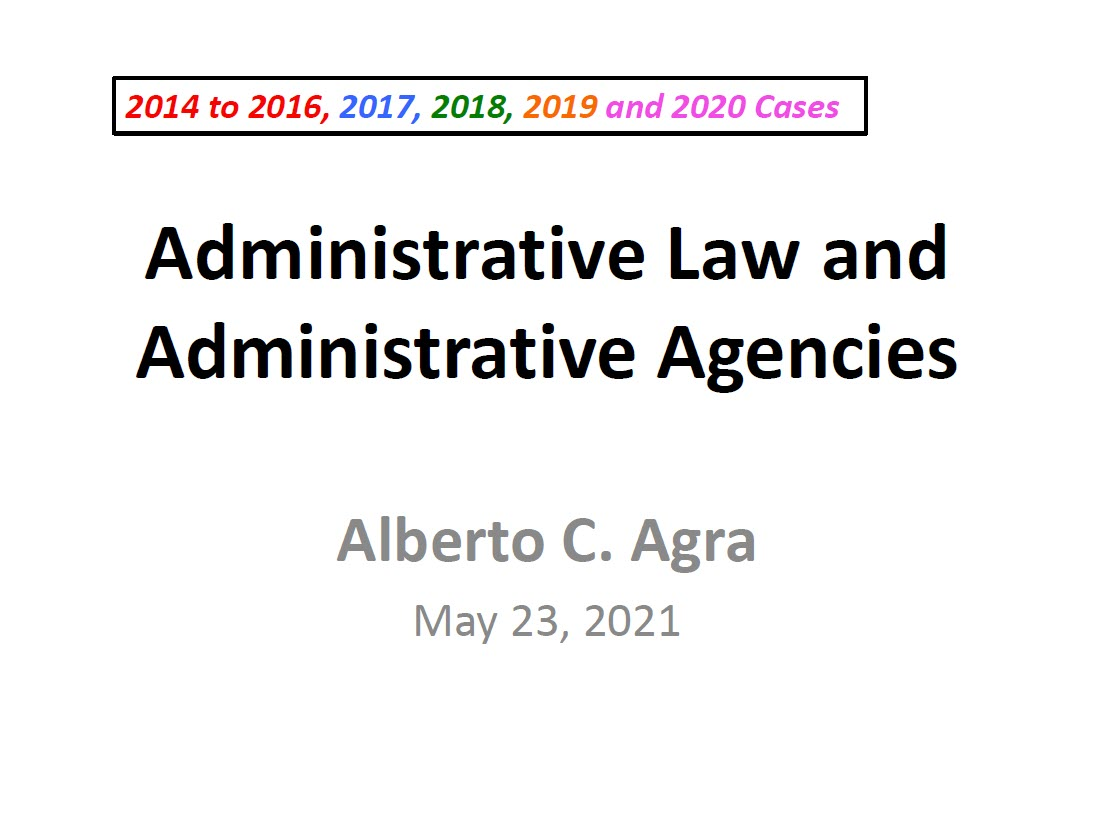 Agra Administrative Law Reviewer TN