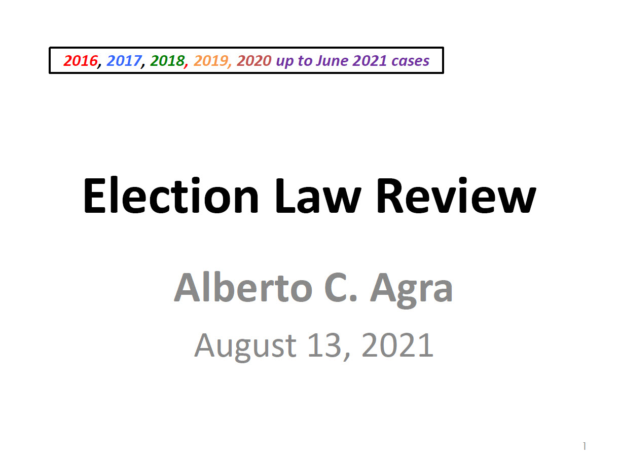 Agra Election Law TN